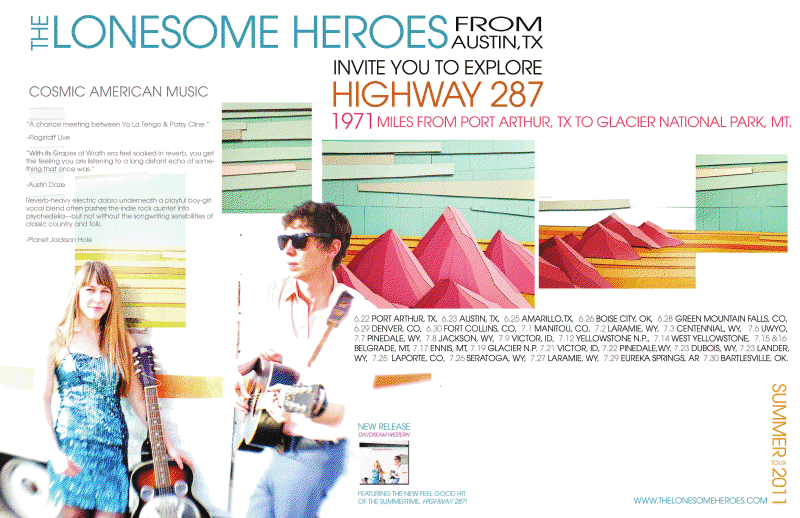 The Lonesome Heroes Highway 287 Tour
