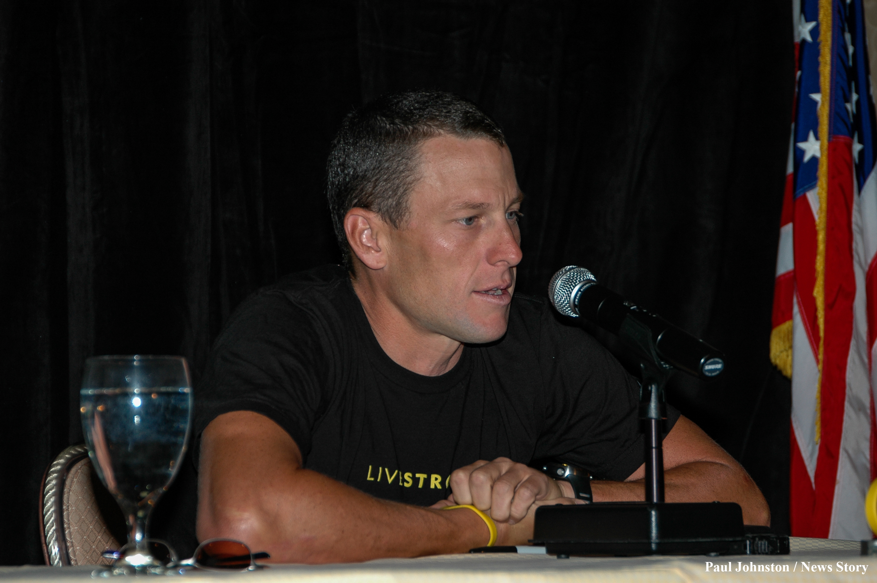 Lance Armstrong , August 13, 2004 - Copyright, Paul Johnston - Austin News Story, austinnewsstory.com